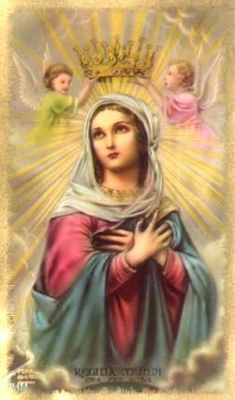 Conhecido Maria é Rainha, porque é a Mãe de Jesus Cristo, o Rei. Ela é  SI36